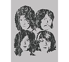 NEW DESIGN - The Four Faces - Dark Grey Extreme Distress Photographic Print
