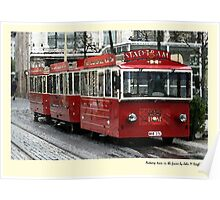 Tram in the frame Poster