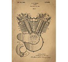 Harley Engine patent  Photographic Print