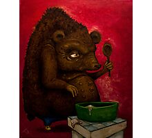 Who the Funk ate my Porridge (oiloncanvas) Photographic Print