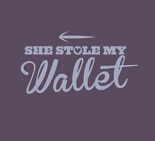 She stole my Wallet with arrow left by jazzydevil