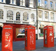 Edinburgh Phone Boxes by Jennifer Douglas