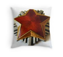 RED STAR COMMUNISTS PIN Throw Pillow