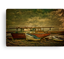 Moored up. Canvas Print
