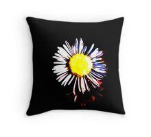 Black Daisy Throw Pillow