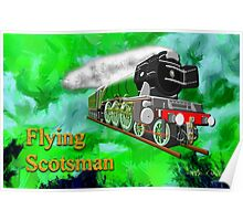 Flying Scotsman with Blinkers Poster
