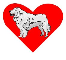 Great Pyrenees Heart by kwg2200
