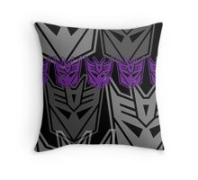 The Iconic Decepticons (black) Throw Pillow