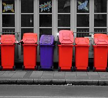 Pretty Bins All In A Row by Karen Martin