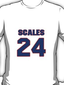 National baseball player Bobby Scales jersey 24 T-Shirt