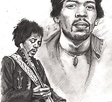 Jimi Hendrix by Alleycatsgarden