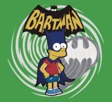Bartman: the simpsons superheroes Kids Clothes