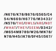 /THE/OWLS/ARE/NOT/WHAT/THEY/SEEM/ by SallyDiamonds