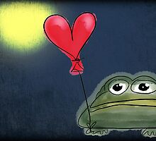 Mister Toad looking for love with background by spectralstories