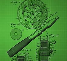 Fishing Reel Patent 1906 - Green by chris2766