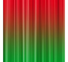 Red and Green Vertical Stripe Pattern Photographic Print