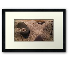 Sand and Rock #3 Framed Print