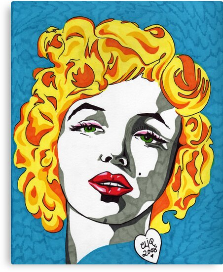Marilyn Monroe by Angelique  Moselle
