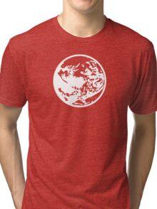 Earthbound Symbol - Super Smash Bros. (white) Tri-blend T-Shirt