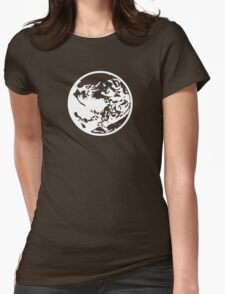 Earthbound Symbol - Super Smash Bros. (white) Womens Fitted T-Shirt