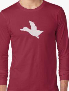 Duck Hunt Symbol - Super Smash Bros. (white) Long Sleeve T-Shirt