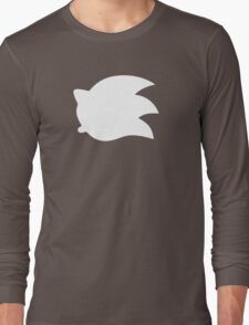 Sonic the Hedgehog Symbol - Super Smash Bros. (white) Long Sleeve T-Shirt