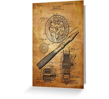 Fishing Reel Patent 1906  Greeting Card