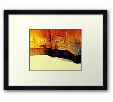 Capturing sand Framed Print