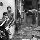 Three Girls Hyderabad by Andrew  Makowiecki
