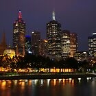 Melbourne night lights by richymac