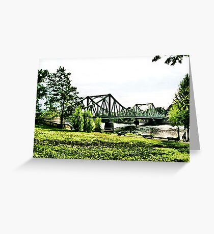 Glienicker Brücke Greeting Card