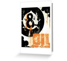Eight Ball Oil Greeting Card