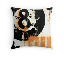 Eight Ball Oil Throw Pillow
