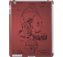 Football Helmet Patent  From 1927 - Burgundy iPad Case/Skin