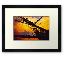 And at the end of the day...... Framed Print