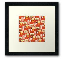 Junk Food Framed Print