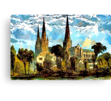 Lichfield Cathedral, Staffordshire - all products Canvas Print