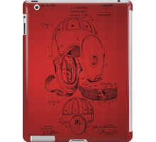 Football Helmet Patent  From 1927 - Red iPad Case/Skin