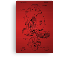 Football Helmet Patent  From 1927 - Red Canvas Print