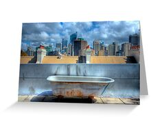 Old Bathtub on Rooftop - Darlinghurst, Sydney, Australia Greeting Card