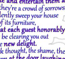 A favorite RUMI poem Sticker