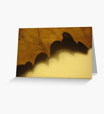 Crisp Leaf, Soft Shadow Greeting Card