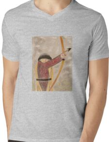 Medieval Archer Mens V-Neck T-Shirt
