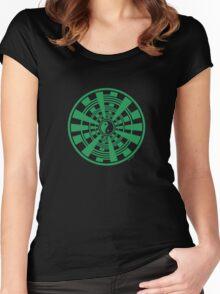 Mandala 36 Yin-Yang Green With Envy Women's Fitted Scoop T-Shirt