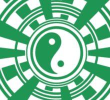 Mandala 36 Yin-Yang Green With Envy Sticker