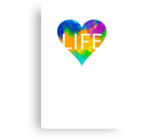 Colours are Life Canvas Print