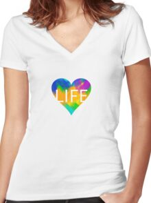 Colours are Life Women's Fitted V-Neck T-Shirt