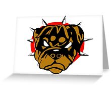 Mad Rottweiller Greeting Card