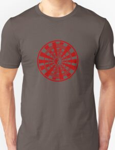 Mandala 36 Yin-Yang Colour Me Red Unisex T-Shirt