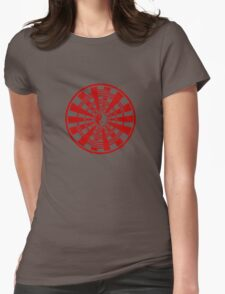 Mandala 36 Yin-Yang Colour Me Red Womens Fitted T-Shirt